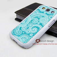 Samsung Galaxy SIII case Case Samsung Case Galaxy S3 i9300 Case blue  flower graphic design