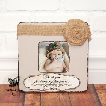 Christening Gift Baptism Gift Boy Custom Personalized Picture Frame Birth Gift Baby Shower First Birthday Baptism Gift for Godparents Gift