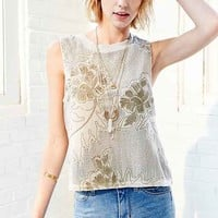 Ecote Maya Embroidered Tank Top