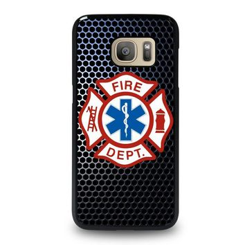 EMT EMS Fire Department Samsung Galaxy S7 Case Cover