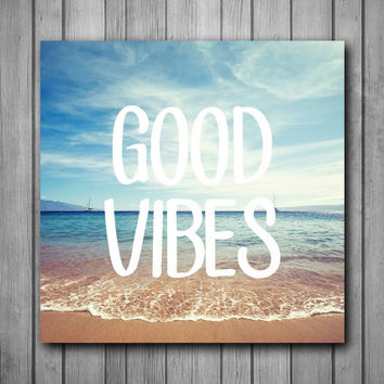 Good Vibes Beach Photo Panel - Durable Finish - High Definition - High Gloss