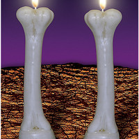 2 pack Bone Candles - Spirithalloween.com