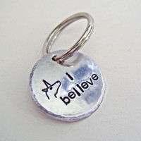 I believe, Unicorn keychain, Custom keychain, purse clip