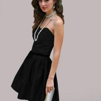 Black Cocktail Dress - Audrey Black dress | UsTrendy