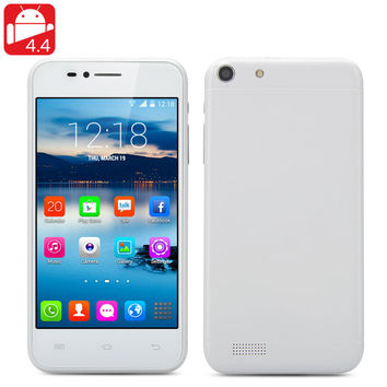 Q6 Android 4.4 Smartphone - Dual Core MTK6572 CPU, 4.6 Inch 800x480 Display, Dual SIM, 3G, Bluetooth (White)