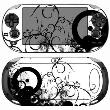 Black and White 113 Carbon Fiber Vinyl Skin Sticker Protector for Sony PS vita PSvita PSV 1000 skins Stickers for PSV1000
