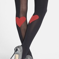 Pretty Polly 'Heart' Trompe l'Oeil Tights | Nordstrom