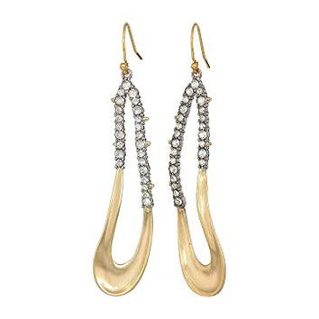 Alexis Bittar Crystal Encrusted Freeform Drop Earrings