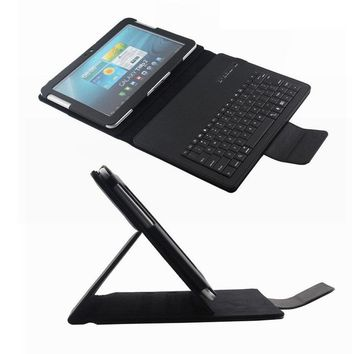 Wireless Bluetooth Keyboard With Tablet Case For Samsung Galaxy Tab 2 10.1 P5100 P7500 10.1inch Stand cover Russian Language