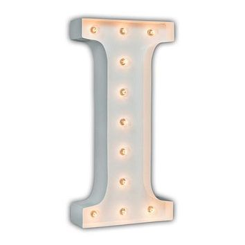 "24"" Letter I Lighted Marquee Letters (White Gloss)"