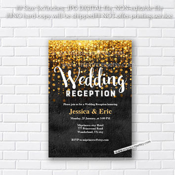 Wall texture, Retirement invitation, Wedding Reception, Engagement party, Bridal Shower, Bachelorette Party - any party   - card 298