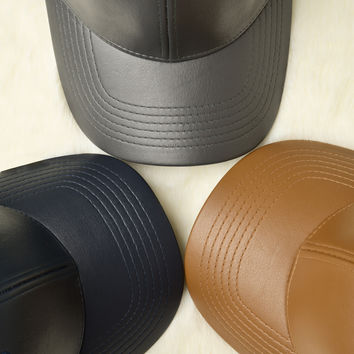 Fun  Faux Leather Cap
