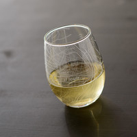 St Louis Map Stemless Wine Glass