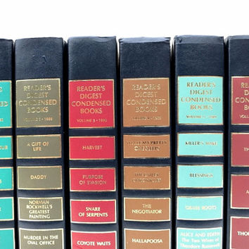 Colorful Readers Digest Vingage Books / Book Decor / Decorative Books / Instant Library / Home Decorating / Interior Decor