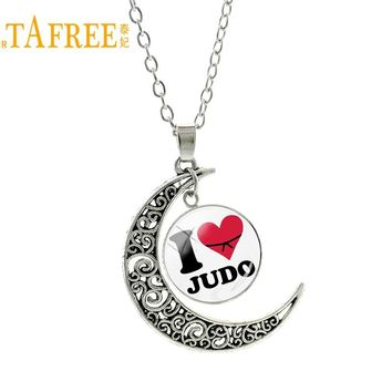 TAFREE vintage yin yang tai chi Keep Calm And I Love Judo men women pendant necklace casual sports karate fashion jewelry SP595
