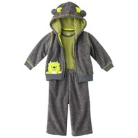 JUST ONE YOU® Made by Carters Newborn Boys' 3 Piece Cardigan Set - Heather Gray/Light Green
