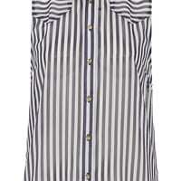 Mix Panel Stripe Shirt - Blouses & Shirts - Tops - Clothing - Topshop