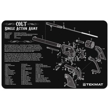 "Colt Single Action Army® Revolver Gun Cleaning Mat - 11"" x 17"" Oversized Workarea"