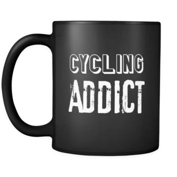 Cycling Cycling Addict 11oz Black Mug
