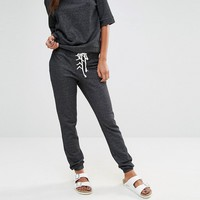 Glamorous Skinny Lace Up Sweat Pants at asos.com