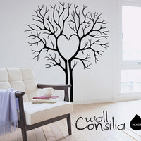 Heart Twin Tree Wall Decal Tree Wall Sticker by WallConsilia