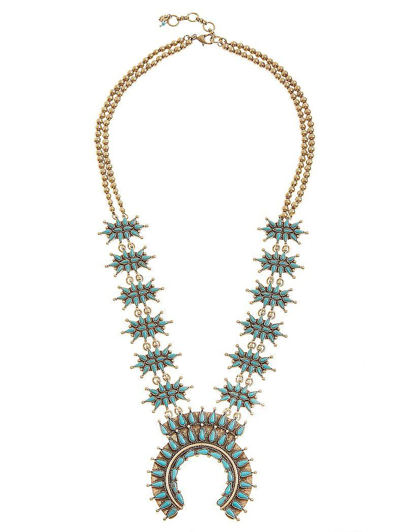 75f9dea856 Lucky Brand Squash Blossom Necklace from Lucky Brand