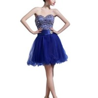 ésoldé Sexy A-Line Sweetheart Beading Lace Pin Short/Mini Prom / Cocktail / Homecoming Dresses2