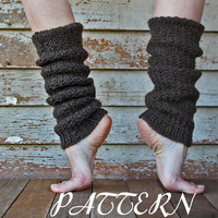 Women's Leg Warmers Pattern - Ribbed Boot Cuff - Slouchy Leg Warmers - Reversable - Instant PDF Download - Fisherman's Wool - Gift Under 10