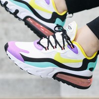 NIKE Air Max 270 React Trending Women Men Casual Air Cushion Sport Running Shoes Sneakers 1#