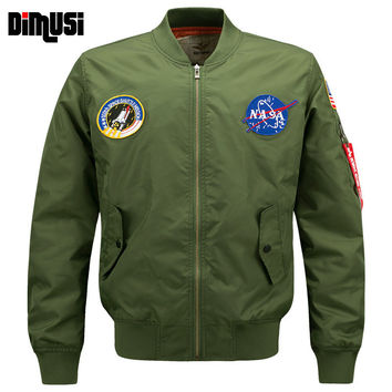 6XL NASA Bomber Jacket Men 2016 Ma-1 Flight Jacket Pilot Air Force Male Ma1 Army Green Military motorcycle Jackets Coats YA545