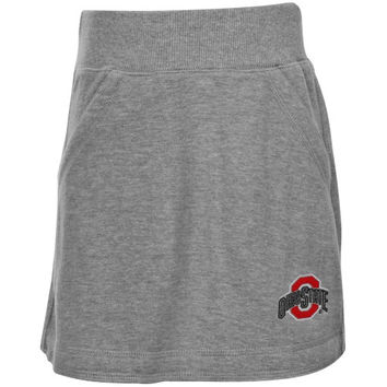 Ohio State Buckeyes Youth Girls Kyla Skirt - Ash - http://www.shareasale.com/m-pr.cfm?merchantID=7124&userID=1042934&productID=520914273 / Ohio State Buckeyes