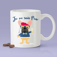 Je Ne Sai Paw - Cute French Bulldog Mug [Gift Idea - Makes A Fun Present]
