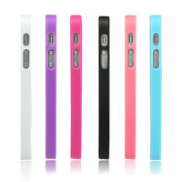 6 Color Choice TPU Bumper Frame Ultra Clear Back Cover Hard Case for iPhone 5 5S