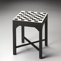 Bishop Bone Inlay Bunching Chess Table