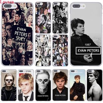 Lavaza Evan Peters Hard Coque Shell Phone Case for Apple iPhone 8 7 6 6S Plus X 10 5 5S SE 5C 4 4S Cover