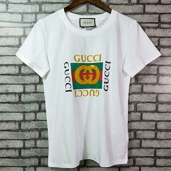 GUCCI Womens Cotton T-shirt