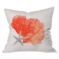 DENY Designs Hadley Hutton Coral Sea Collection 4 Outdoor Throw Pillow