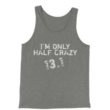 13.1 I'm Only Half Crazy Marathon Jersey Tank Top for Men