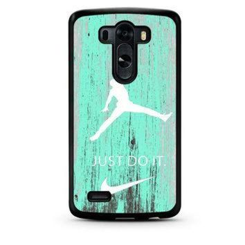 CREYUG7 Nike Jordan Mint Wood LG G3 Case
