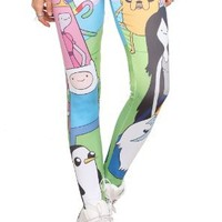 Adventure Time Character Leggings Size : Small