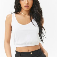 Scoop Neck Cropped Tank Top