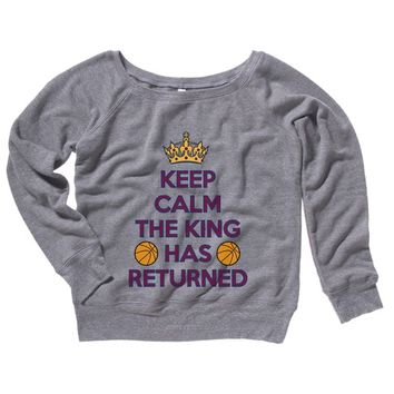 Keep Calm the King has Returned Womens Sweater