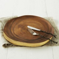 Wood Slice Charger