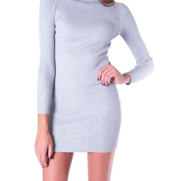 Barely Recognizable Knit Dress - Gray