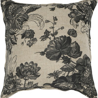"""Printed Vintage Pattern Beige Pillow Cover (18"""" x 18"""")"""
