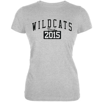 Graduation - WildCats Class of 2015 Heather Grey Juniors Soft T-Shirt