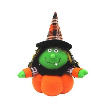 Black Cat Witch Ghost Doll Toys for Halloween Party Decor Cute Doll for Home Decorations Pumpkins Doll for Halloween Party Decor