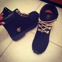 Winter Gold Chain Boots