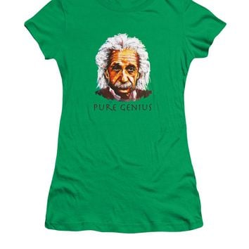 Pure Genius - Einstein - Women's T-Shirt (Athletic Fit)