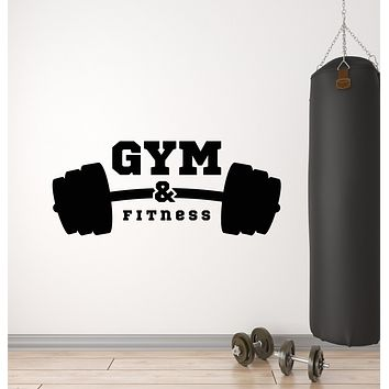 Vinyl Wall Decal Athletic Fitness Club Iron Gym Bodybuilding Sport Stickers Mural (g921)